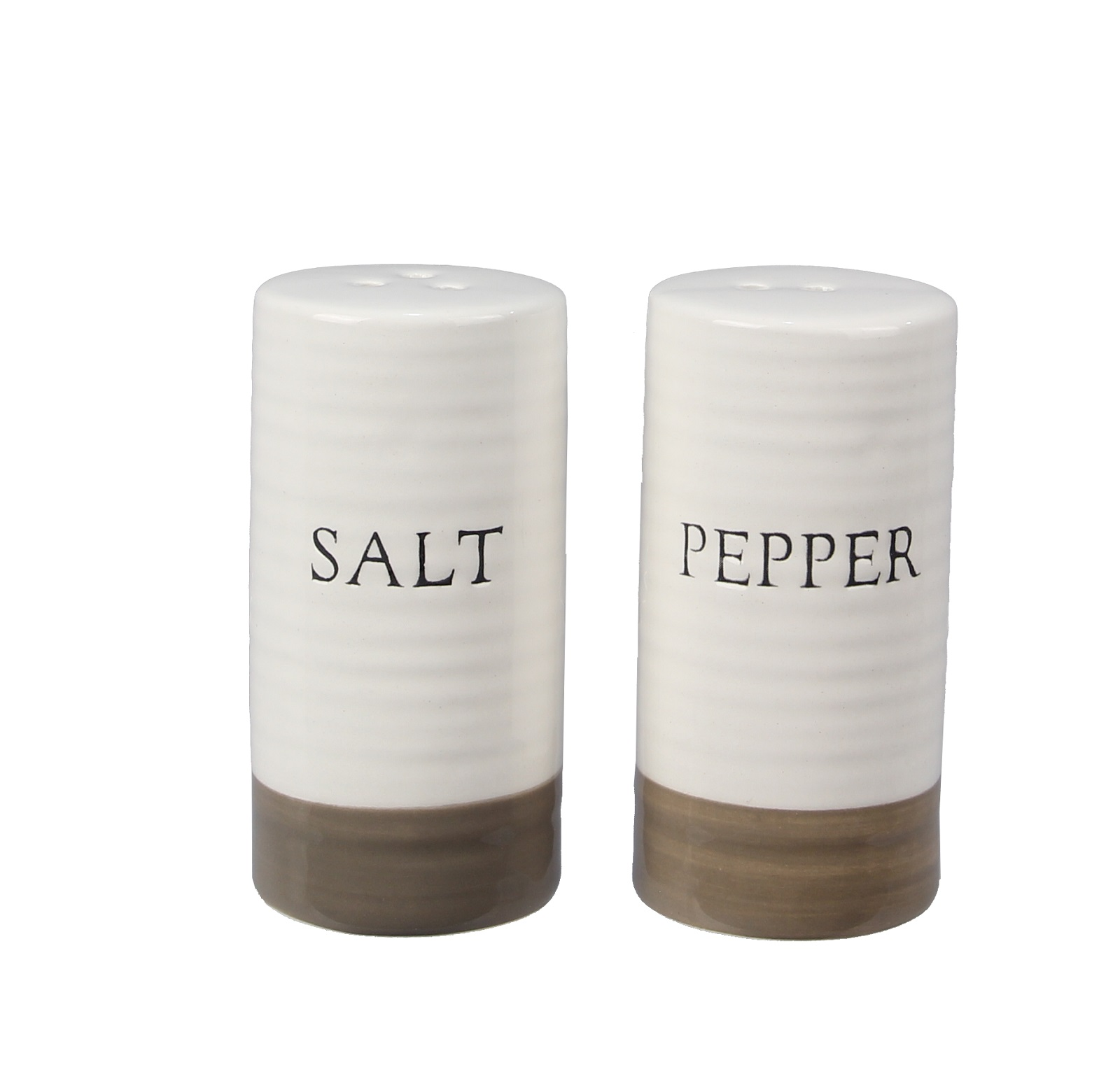 Salt And Pepper Shaker Set Debossed Ceramic Farmhouse Style Walmart Com Walmart Com