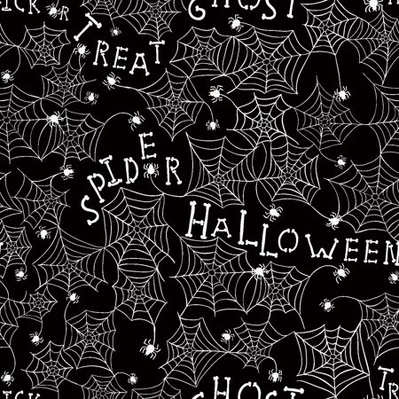 RTC HALLOWEEN FABRIC, WEB METALLIC, 100% COTTON, Quilt Crafts Fabric By The Yard for $<!---->