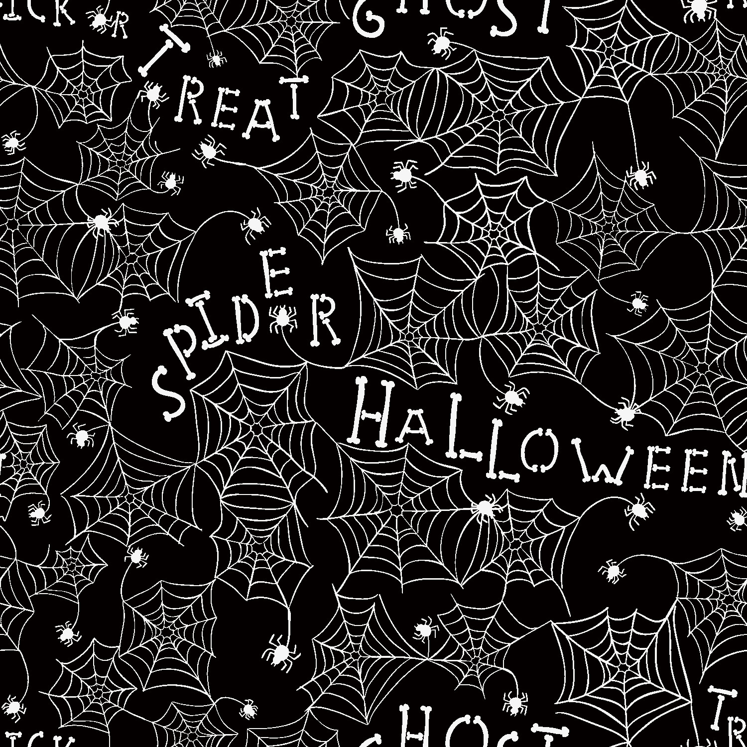 RTC HALLOWEEN FABRIC, WEB METALLIC, 100% COTTON, Quilt Crafts Fabric By The Yard