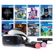 PlayStation VR 11-In-1 Deluxe 8 Games Bundle: VR Headset, Camera, Move Motion Controllers, Skyrim, Batman, Firewall Zero Hour, Battlezone, RIGS, Until Dawn, Blood & Truth, Everybody's Golf