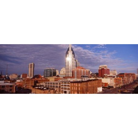 Buildings in a city BellSouth Building Nashville Tennessee USA 2013 Stretched Canvas - Panoramic Images (36 x 13) (Party City In Nashville Tennessee)