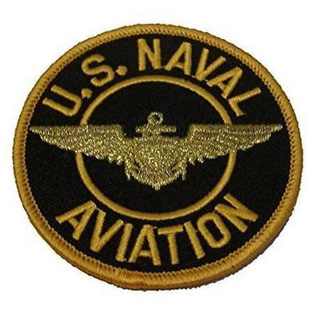 US NAVAL AVIATION W/ WINGS BADGE PATCH PILOT NAVIGATOR VETERAN USMC