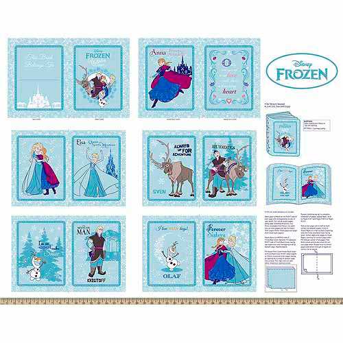 "Frozen, Annas Friends Softbooks, Cotton, Blue, 43/44"" Wide Fabric By The Yard"