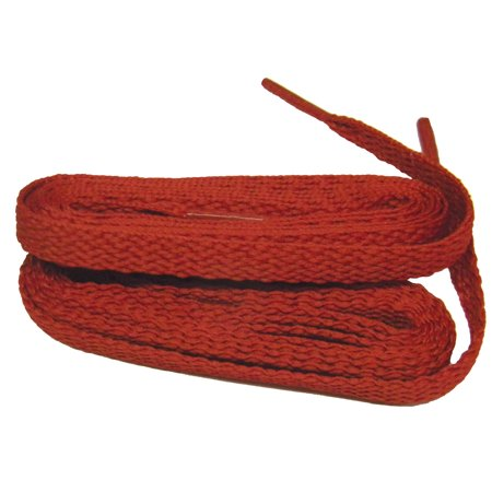 63 Inch 160 cm  Bright Fire Engine Red proATHLETIC™ flat 8mm Chucks style sneaker shoelaces -(2 Pair