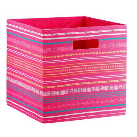 Stripe KD Storage Bin Pink ‑ Pillowfort, Dark Pink
