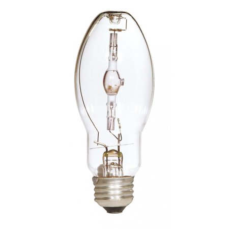 Satco Lighting S5858 Single 100 Watt ED17 Shaped Medium (E26) Base Metal Halide Bulb 100 Watt Medium Based Bulb