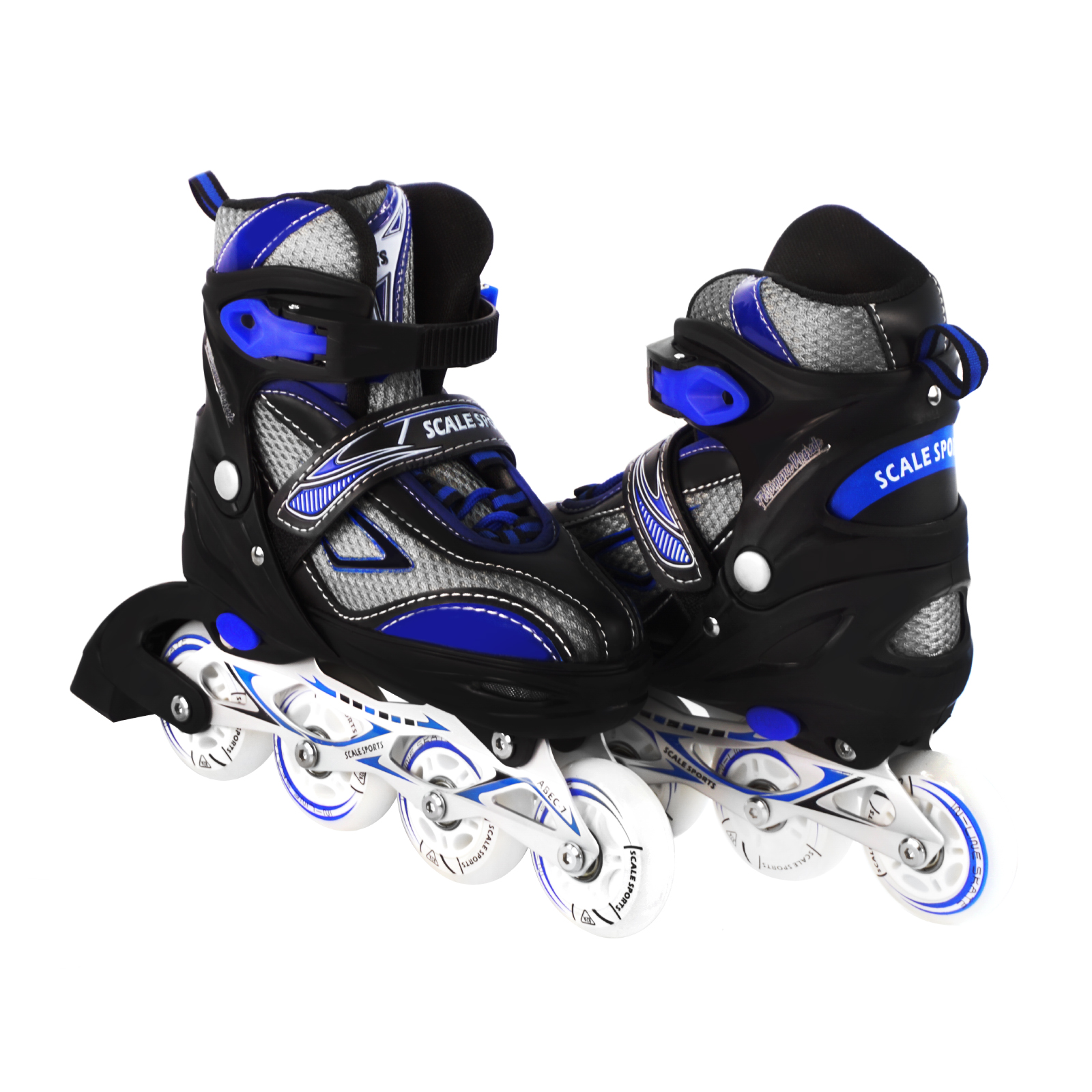 Kids/Teen Adjustable Inline Skates For Girls and Boys Durable Outdoor Illuminating Front Wheel, Blue
