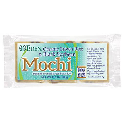 Eden Brown Rice & Black Soybean Mochi, Organic, 10.5 Ounce (Pack of 5) by