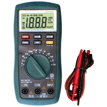 Digital Multimeter Cat - Cat III Autorange Digital Multimeter with Temperature Probe