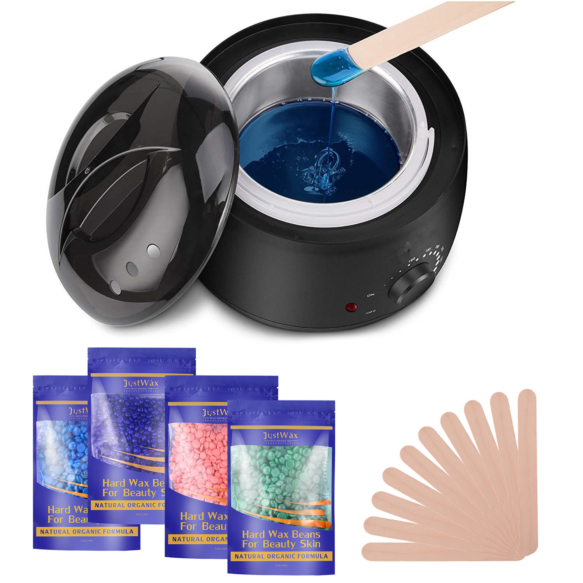Image Stylish Electric Hair Removal Heater Hot Wax Warmer Set W 4
