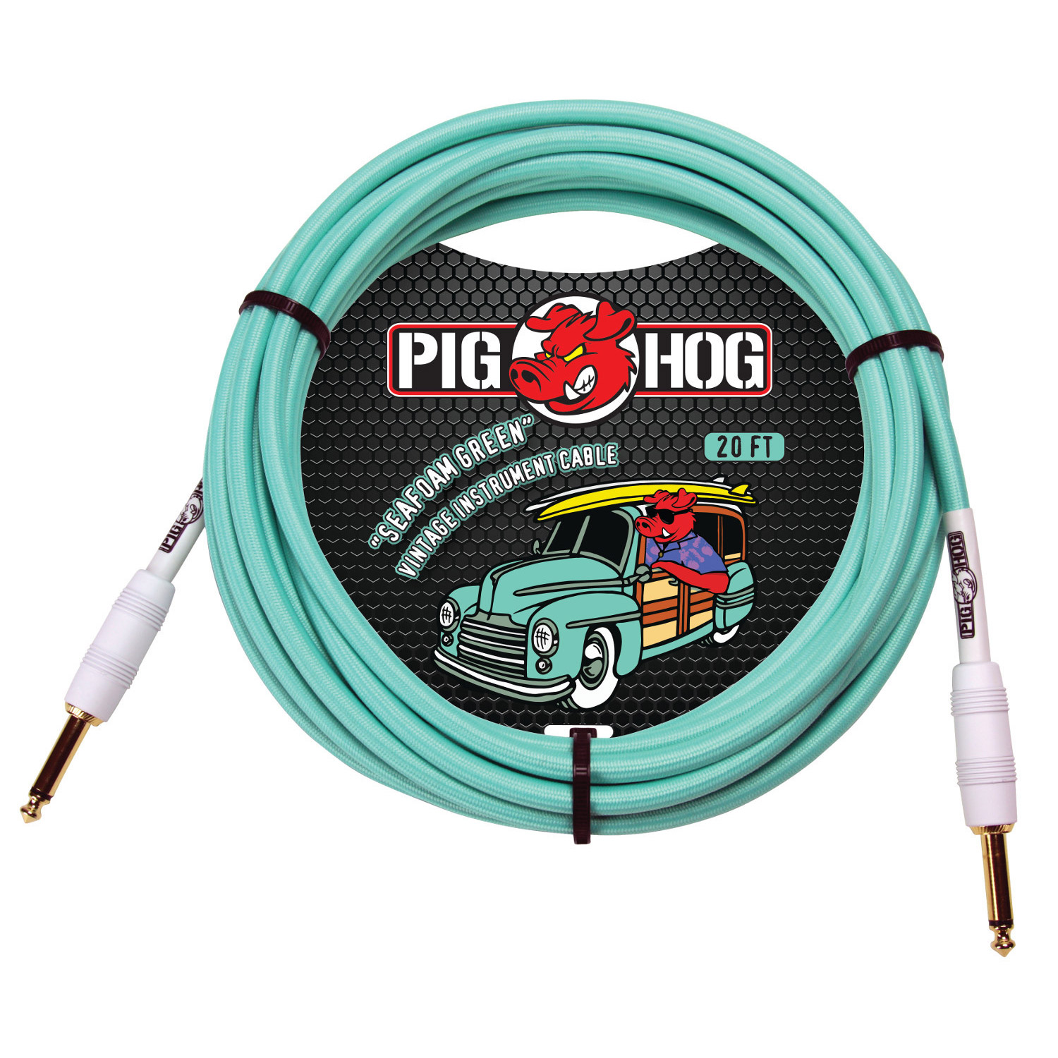 "Pig Hog PCH20SG ""Seafoam Green"" Instrument Cable, 20ft"
