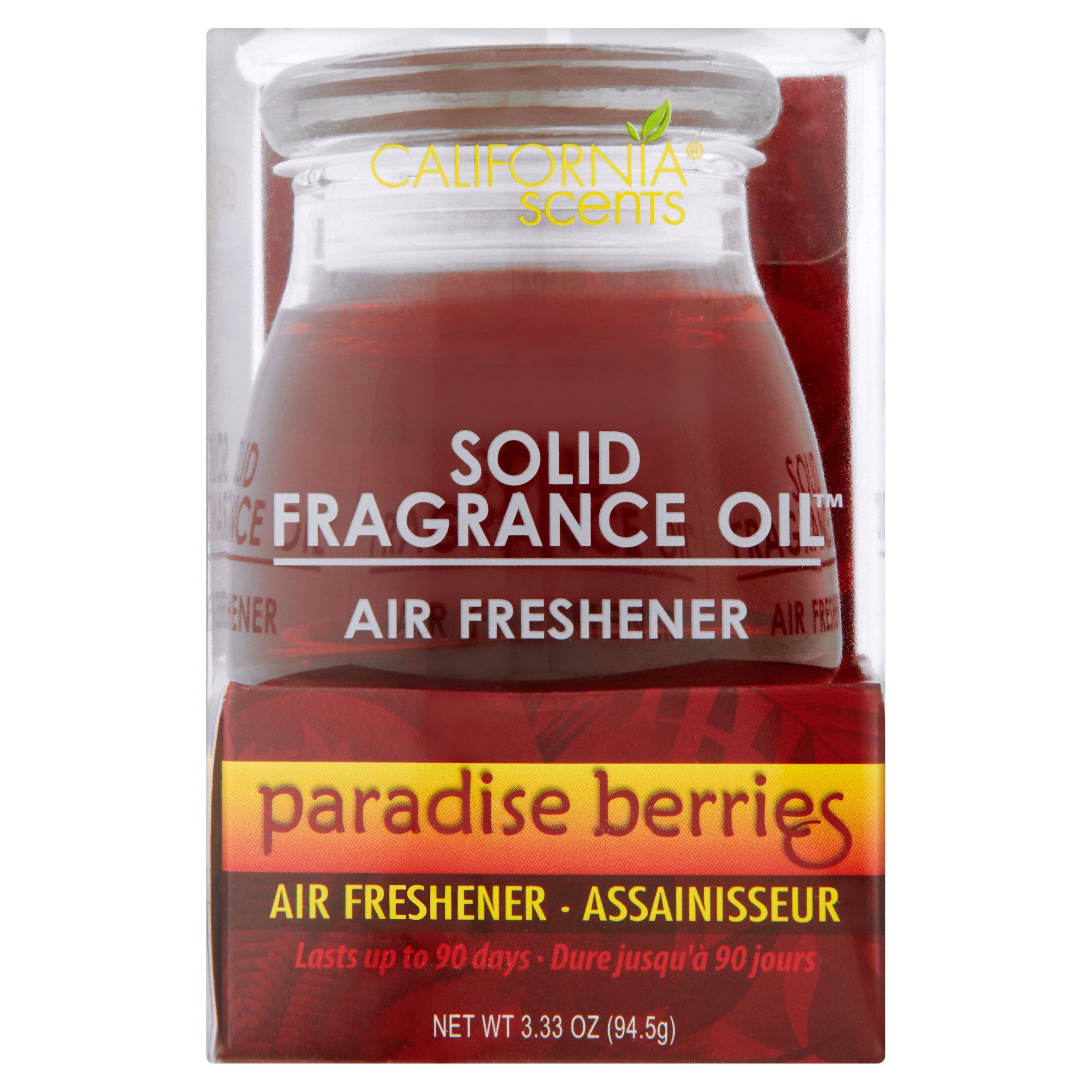 California Scents Solid Fragrance Oil Paradise Berries Air Freshener, 3.33 oz, 6 pack