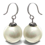 88 Imports ME0601 Mother of Pearl Earrings - White