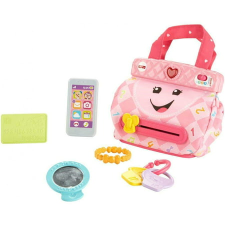 Fisher-Price Laugh & Learn My Smart Purse with 50+ Sounds & Phrases