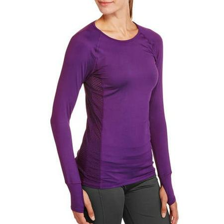 85f0aeaa Danskin Now - Women's Active Long Sleeve Performance T-Shirt - Walmart.com