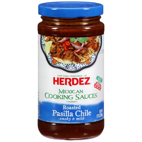 Herdez Roasted Pasilla Chile Cooking Sauce, 12 oz