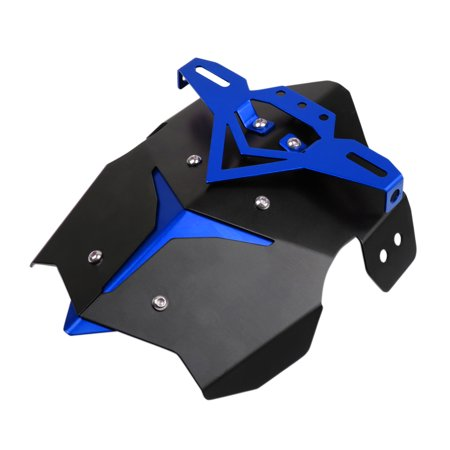 28 x 23cm Blue Black Universal Metal Motorcycle Scooter Rear Fender Mudguard Plate Set - image 2 of 6