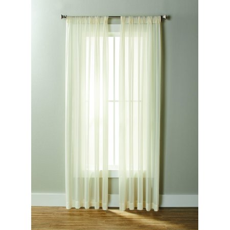 Better Homes & Gardens Georgette Sheer Curtain Panel, 50x84