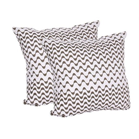 Set of 2 Hand Woven 100% Cotton Pillow Covers for Throw Pillows Square Cushion Covers for Sofa Home Bedding Dcor. (Design (Hand Woven Throw Pillow)