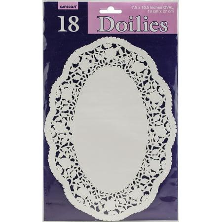 """Paper Doilies-7"""" Oval White 18/Pkg"""