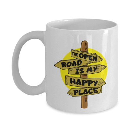 The Open Road Is My Happy Place Coffee & Tea Gift Mug For A Driver & Driving (Places That Deliver Near My Location Open Now)