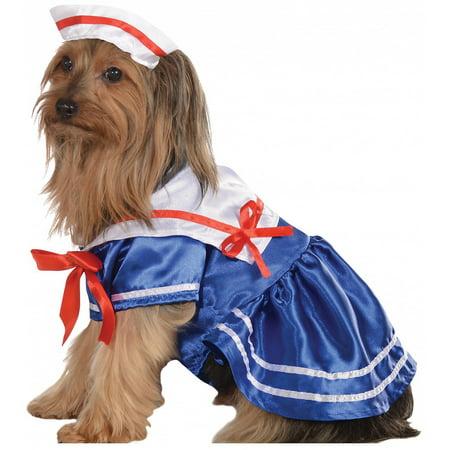 Sailor Girl Pet Pet Costume - X-Large