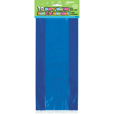 Plastic Cellophane Bags, 11 x 5 in, Royal Blue, 30ct](Easter Gift Bags)
