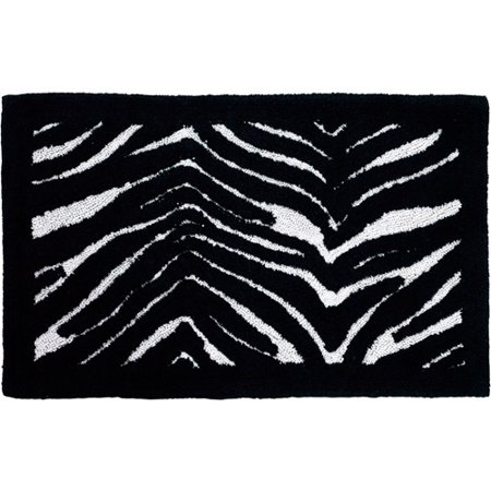Zebra Bath Rugs - Creative Bath Zebra Cotton Bath Rug, Striped, 21
