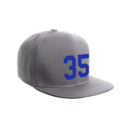 Classic Flat Bill Visor Snapback Hat Custom Color Player Team Numbers
