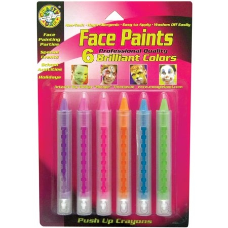 Face Paint Push-Up Crayons 6/Pkg-Brilliant](Princess Face Paint)