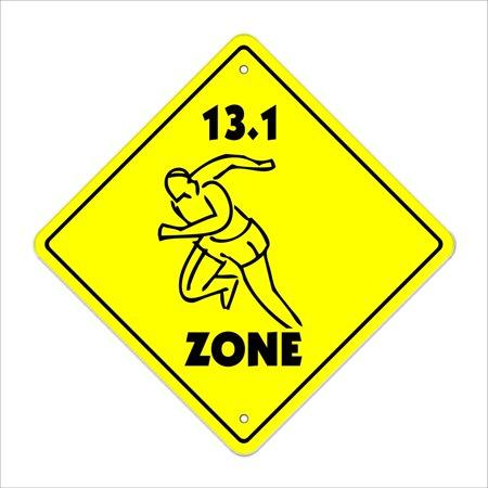 13 1 Zone Sign Xing Gift Novelty Marathon Runner Shoes Running Shorts