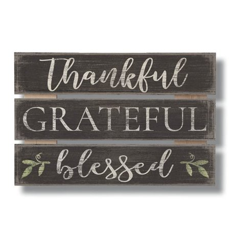 Thankful Grateful Blessed (Red Barrel Studio Thankful Grateful Blessed Wood Sign Wall)