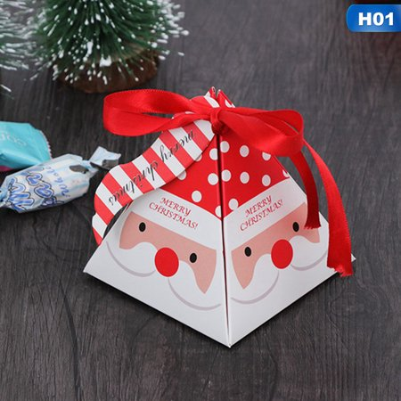 KABOER  Kids Favors Gift Package Creative Christmas Decoration Paper Carrier Candy Box Xmas Bags (Package Lost By Carrier)