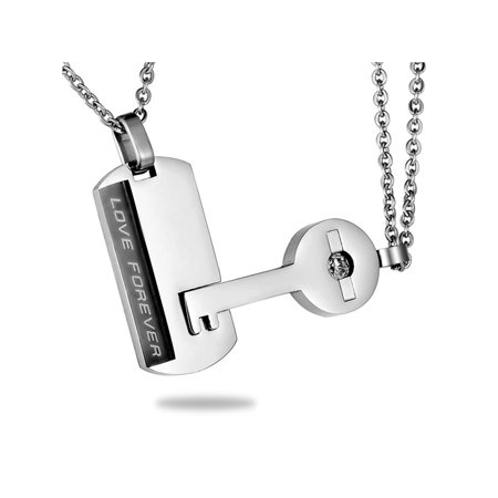 Love Forever Couple Lovers Fashion Popular Jewelry Lock Key Pendants Necklaces](Lock And Key Jewelry For Couples)
