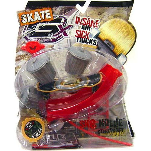 GX Racers Skate SK8 Nollie Starter Set with Scarez Fifty-5 Deck Plate by Jakks Pacific