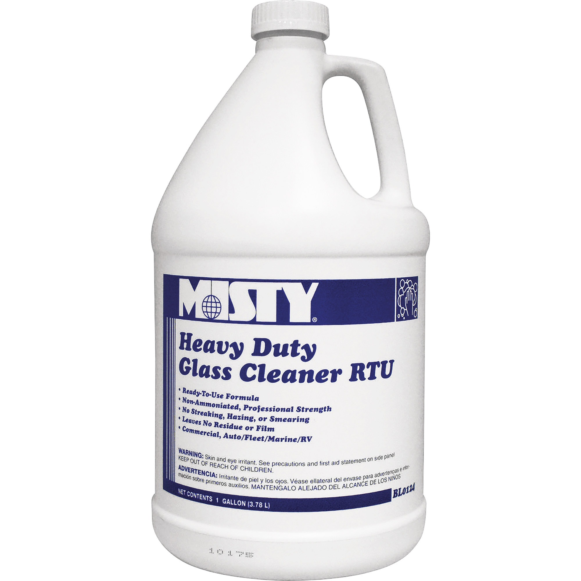 MISTY, AMR1001499CT, Heavy Duty Glass Cleaner Concentrate, 4 / Carton, Aqua Blue