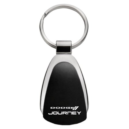 Dodge Journey Logo Black Tear Drop Key Chain