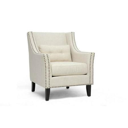 Albany Beige Linen Modern Lounge Chair