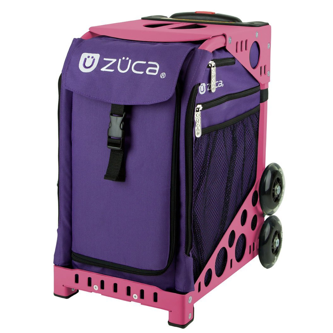 Zuca Rebel Insert Bag & Pink Frame with Flashing Wheels