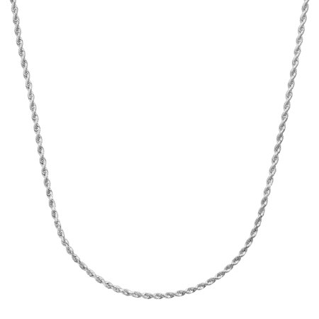 Classic Rope Chain Necklace in 14kt White Gold ()