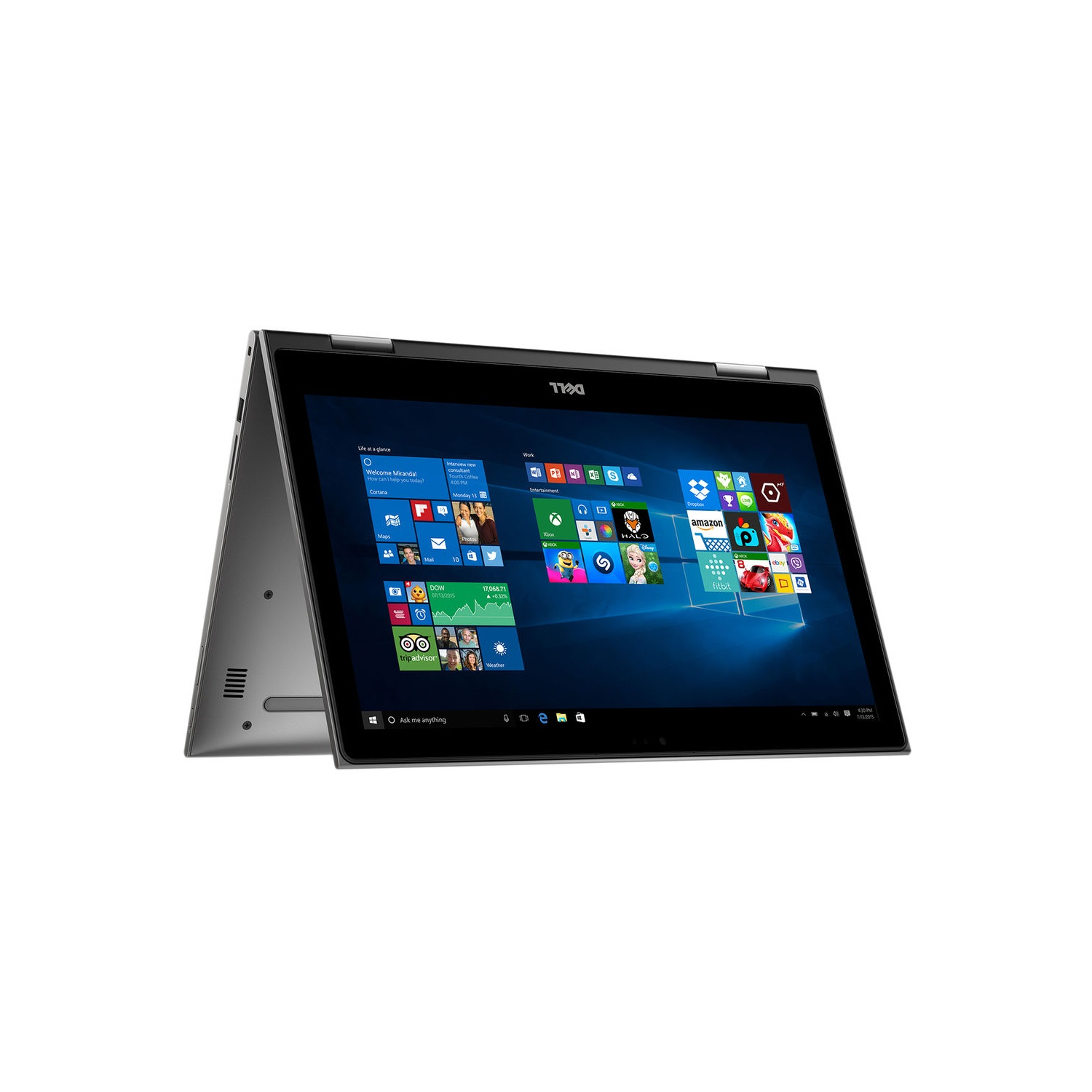"Dell I55783093GRY Inspiron 2-in-1 15.6"" Touch-Screen Laptop Intel Core i3 4GB Memory 500GB Hard Drive Theoretical Gray"