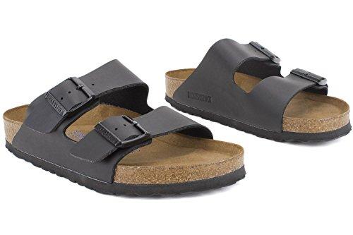 Birkenstock Arizona Soft Footbed Sandal Black Birko-Flor, 38 M EU by Birkenstock