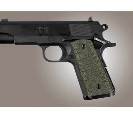 Hogue Officers Model S Mag Well Piranha Grip G-10 - G-Mas...