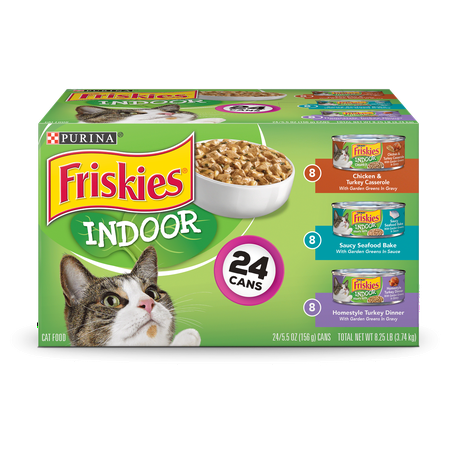 Friskies Indoor Wet Cat Food Variety Pack, Indoor - (24) 5.5 oz. (The Best Wet Cat Food For Indoor Cats)