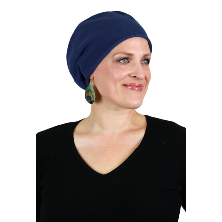 Soho Cotton Knit Hats Chemo Beanies Cancer Caps for Women- Hat by Parkhurst  (INDIGO) - Walmart.com 4a97ae29cd6