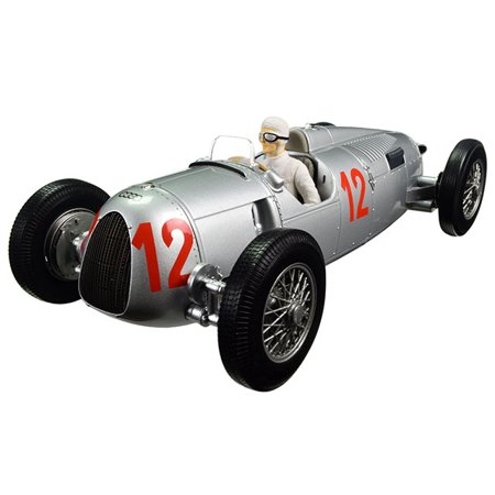 - Auto Union Type C 1936 Budapest GP Hans Stuck #12 Limited Edition to 1002pcs 1/18 Diecast Model Car by Minichamps