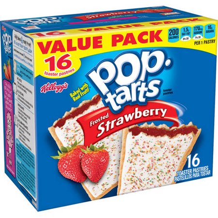 Kellogg's Pop-Tarts Frosted Strawberry Toaster Pastries ...