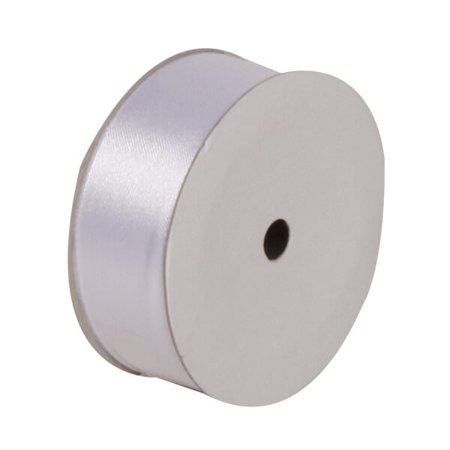 JAM Paper Satin Ribbon, 7/8 x 7 yards, White, Sold Individually