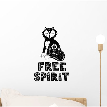 Scandinavian Fox Free Spirit Wall Decal Wallmonkeys Peel and Stick Animal Graphics (12 in H x 10 in W) WM502848