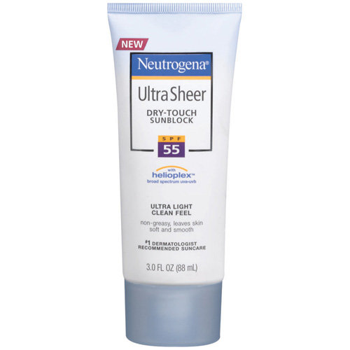 Neutrogena Ultra Sheer Dry-Touch Sunscreen Lotion Broad Spectrum SPF 55, 3 fl oz